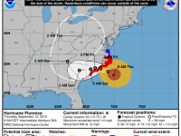 Hurricane Florence - Thursday 8 AM Update