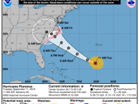 Hurricane Florence Tuesday 11 AM Update