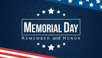 2019 Memorial Day Holiday Notice