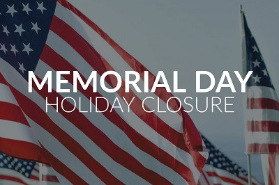 Memorial Day 2020 Holiday Notice